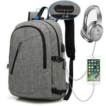 "Classical custom durable <strong>school</strong> anti theft business travel 15.6"" laptop backpack bag with USB charging port"