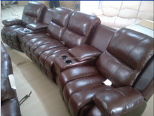 2016 Living room sofas genuine leather home theatre seating chairs with electric