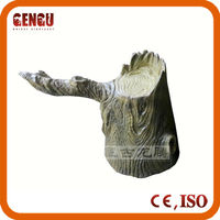 Outdoor simulation fiberglass tree stumps decoration