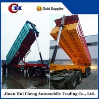 CCC certification 3 axles 12 wheels 60 tons tipper truck trailer dump trailers for tractors