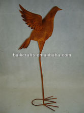 metal bird garden art