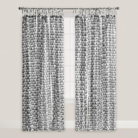 Luxury Arabic tab top curtain design hotel bed room printing window curtain