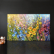flower beautiful decorative oil canvas abstract art wall painting