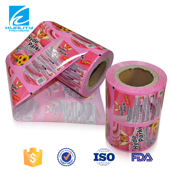 Food grade food packaging plastic film roll for water sachet 500ml