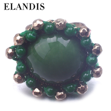 Newest hot sale fashion gold plating with claw machine green beads for wedding