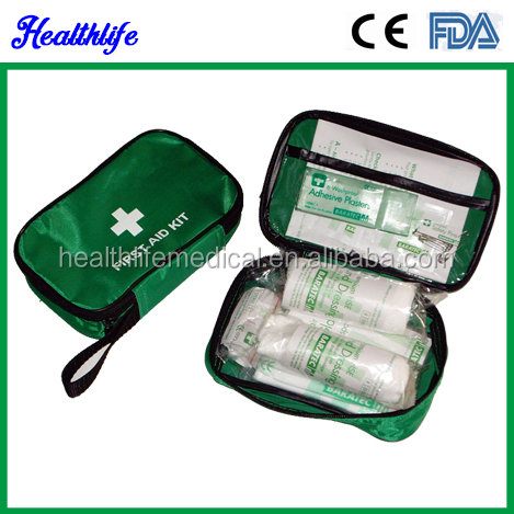 Hand carry kit road side kit family Sport travel first aid kit CE FDA