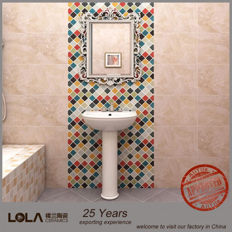 Foshan tile kids bathroom tile glass mix stone mosaic tile