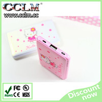 Hot selling Doraemon Hello kitty cute cartoon mirror power bank 8800mAh