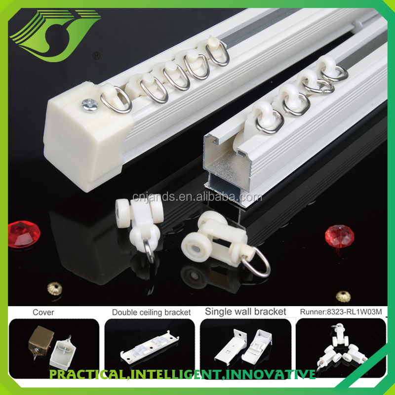 ZC-022 top design curtain pipe accessories / Aluminum roman curtain track for roller blind