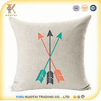 Feather Arrow Magic squares Cotton Linen Throw Pillow Case Cushion Cover