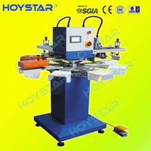 2color 8stations carousel silk screen printing machines for t-shirt / bags