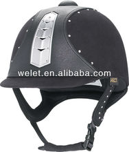 VG1 hot sale equestrian horse riding helmet WLT-802E BLACK ce approval helmet