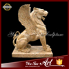 Hand Carved Travertine Outdoor Decorative Flying Lion Statue
