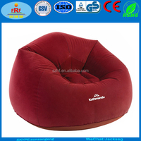 Inflatable Flocking Bean Bag Sofa, Inflatable Flocking Moon Chair, Inflatable Lazy air sofa