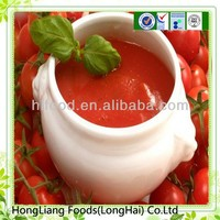 Beautiful seasoning canned tomato paste in tins