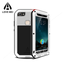 Wholesale Love Mei Powerful Shockproof Waterproof Gorilla Glass Aluminum Metal phone case for vivo X6