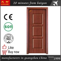 classical design 3 panel steel wooden door