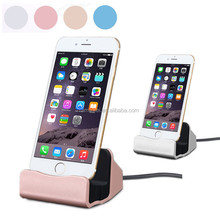 Colorful Phone Charging Dock Charger with Data Sync cradle stand Docking Station For iphone