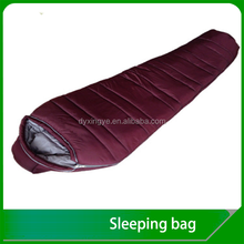 Hollow fibre cold weather travel Outdoor Camping Mummy sleeping bag