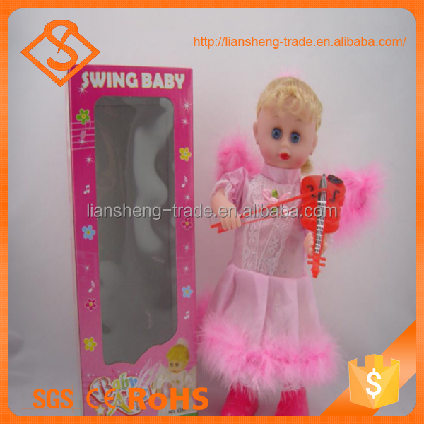Hot sale beautiful toy play violin mini angel lovely baby doll