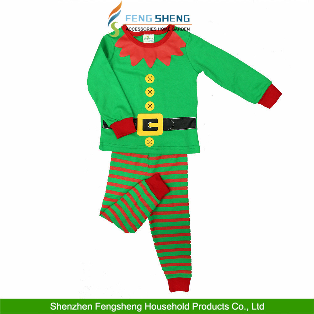 Christmas Cartoon Sleepwear Kids Boys Girls Cotton Nightwear Elf Pj's Pajamas Costume New