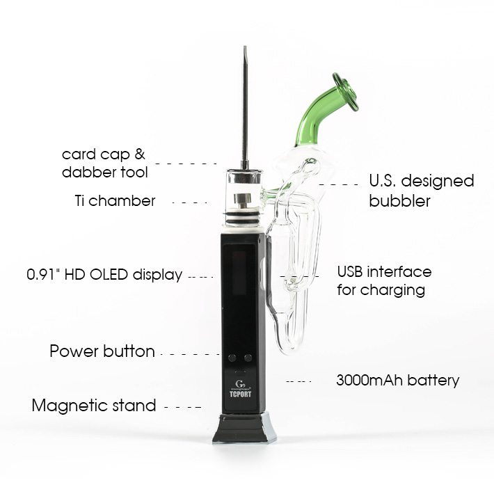 Wholesale Wax ENail Dabber G9 Portable Dab Rig Vaporizer With Smart Temp Control System