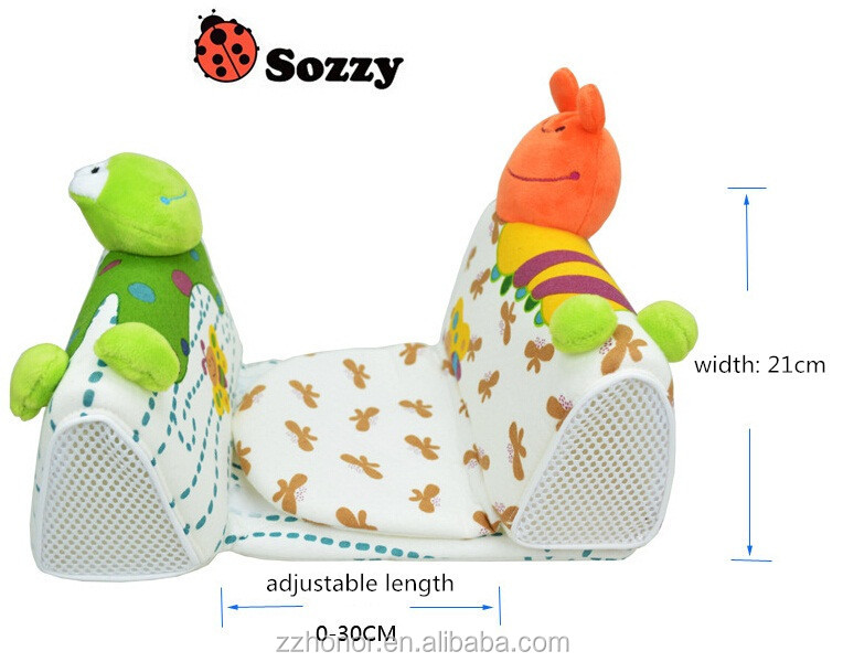 Sozzy sleep positioner, Baby Infant Safe Sleep Positioner Prevent Flat Head Shape Anti Roll Pillow Fixed