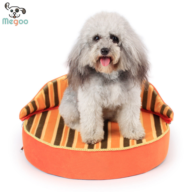 Crown Shaped Dog Sofa Beds Detachable Puppy Cushions Foam Padded Dog Bed Winter