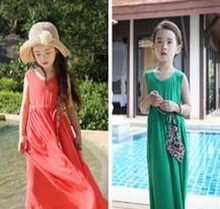 Wholesale Sleeveless Long Maxi <strong>Girl's</strong> Cotton <strong>Dress</strong> From Pakistan Karachi