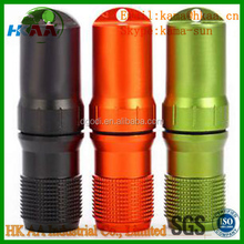 CNC Machined Outdoor Survival Waterproof Pill / Match Box Container Seal Capsule Bottle
