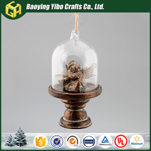 Clear glass dome with angel statues pendant wholesale