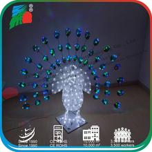 3D Peacock light, Colorful peacock light, Holiday peacock light