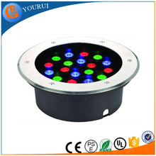 18w12V colorful led underground light/led waterproof under deck light