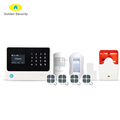 High quality home security alarm system work with amazon Alexa security WIFI/GSM smart home alarm system wireless security