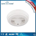 White Big GSM Photoelectric Smoke Detector SMS Indication Alarm