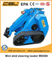CE EPA approved Mini skid steer loader MS500 mini tracked loader with backhoe loader for sale