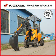 1-5Ton skid steer wheeled mini loader attach rollers mower
