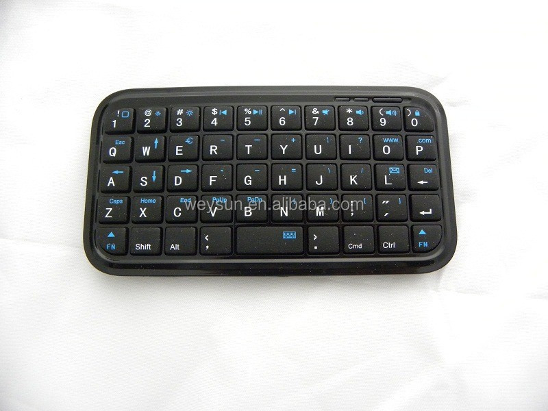 Black color Ultra Slim Mini Bluetooth Keyboard
