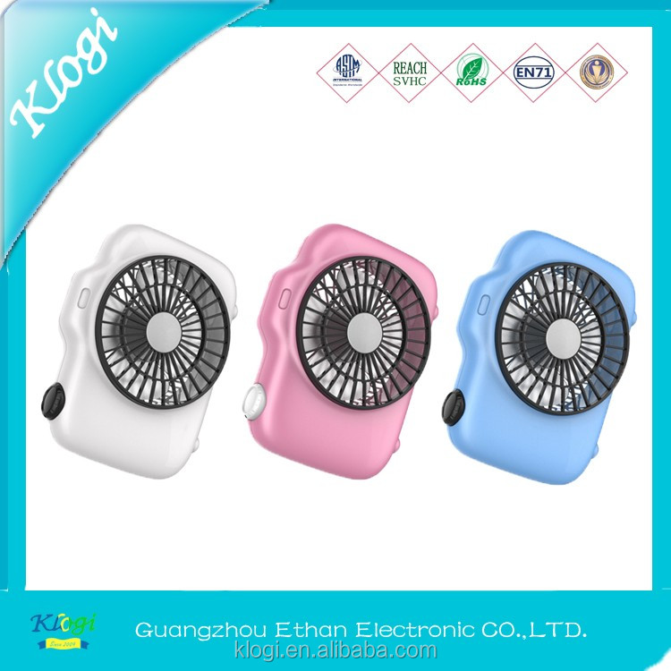 USB mini small fan rechargable 4 inch with battery led light