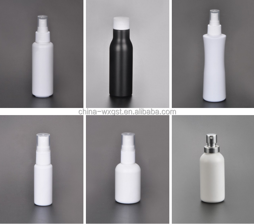 Wholesale PE round shoulder round plastic bottle with spray from chinese wholesaler