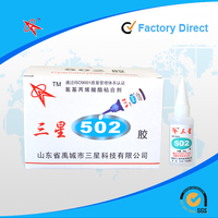 Professional factory direct flexible 502 cyanoacrylate adhesive super glue for plastic/rubber/glass/metal/wood/leather