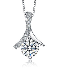 Marlary Low MOQ Hot Sale Custom Ladies Pendant Necklace 925 Sterling Silver Jewelry
