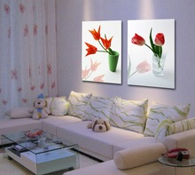Beautiful Simple Canvas Flower Vase Painting Designs for Living Room Decoration