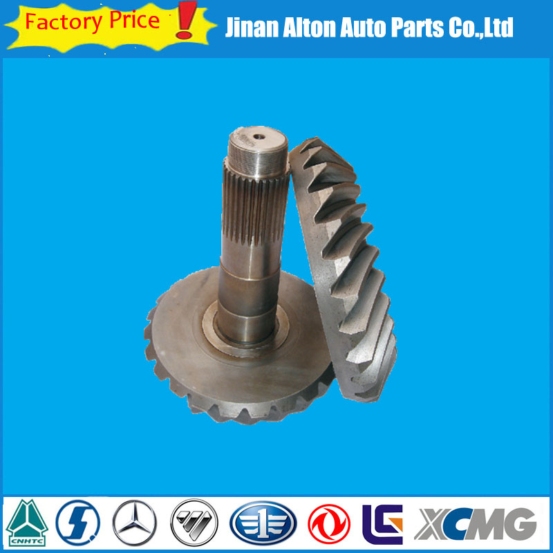 Ankai Gear Ratio 18/27 17/29 Bei Ben Rear Axle Crown Wheel And Pinion Ring Gear Truck Spare Parts