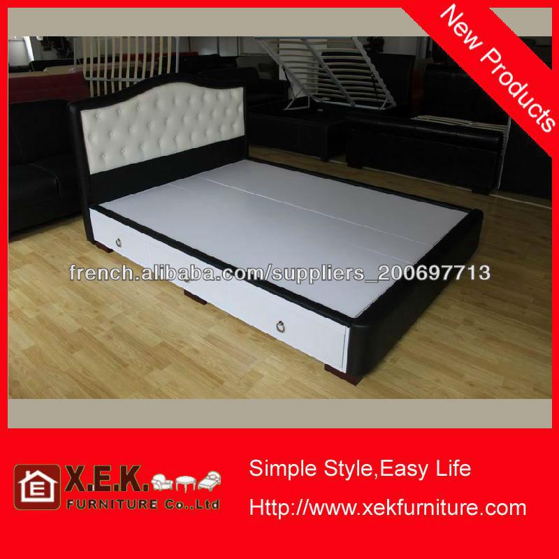 2013 cuir moderne mobilier de chambre à coucher-Lits ...