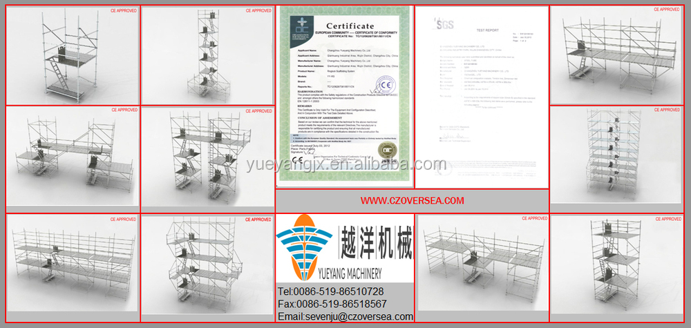Aluminium Scaffolding Work Platform With Portable Weight
