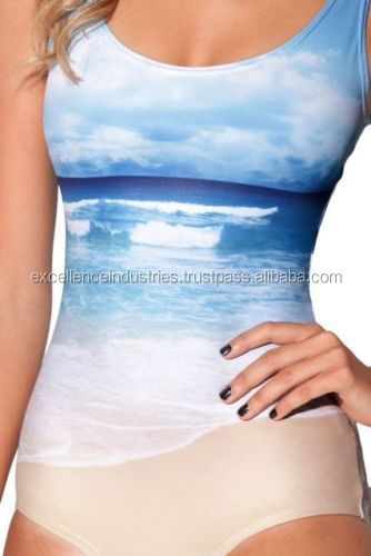 Wholesale Swimsuit Sublimation Printed Women Swimsuit/2014 latest girls one piece swimsuit