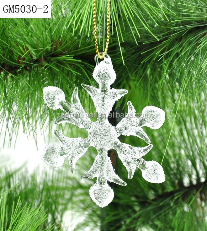 wholesale fashion flashing snowflake light for christmas tree decoration