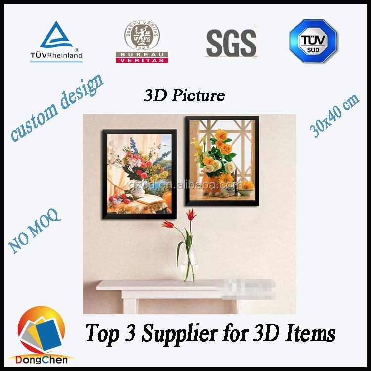 3d picture/painted pictures of flowers 3d pictures/home decor 3d pictures wholesale