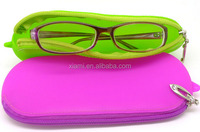 novel portative zipper candy color silicone glasses case